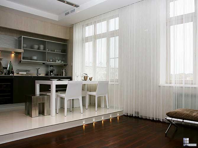 Красивые белые шторы фото